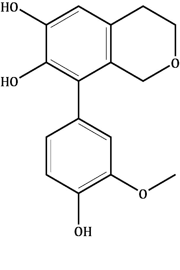 1-(3-Methoxy-4-hydroxy)-phenyl-6,7-dihydroxy-isochroman Compound Image