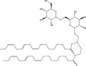 Poly-unsaturated di-galactoside glycerol diester
